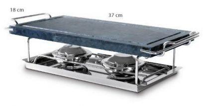 Set Piedra Natural asar carne a la piedra (37X19X2cm) + 1 piedra de repuesto
