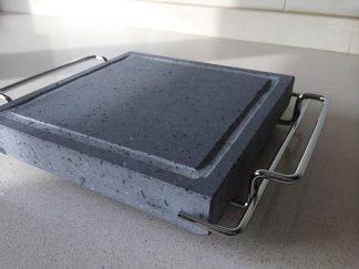 Piedra para asar Volcanica 19x19x3cm con soporte
